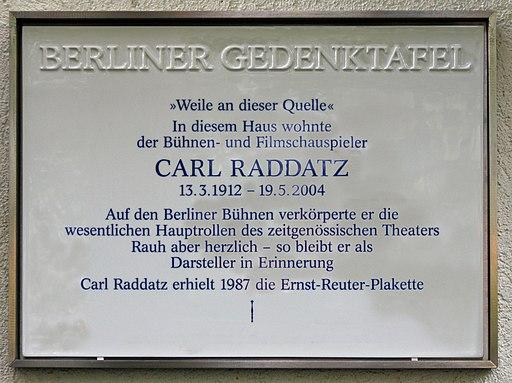 Gedenktafel Carl Raddatz
