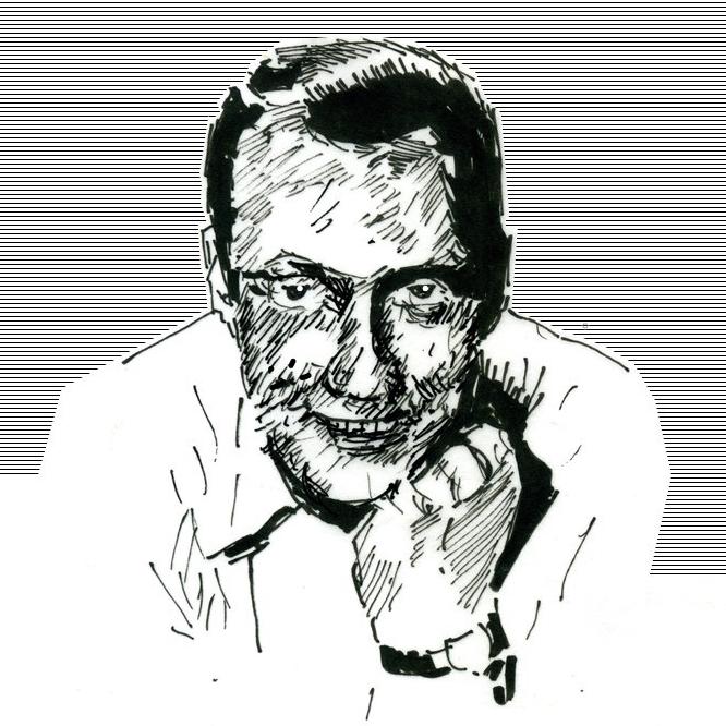 Porträtskizze von Carl Raddatz