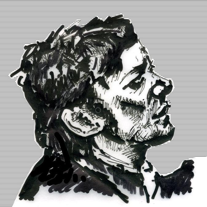 Porträtskizze von Egon Schlegel