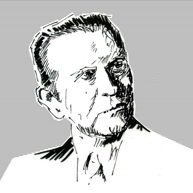 Porträtskizze von Hans Herrmann Schaufuß