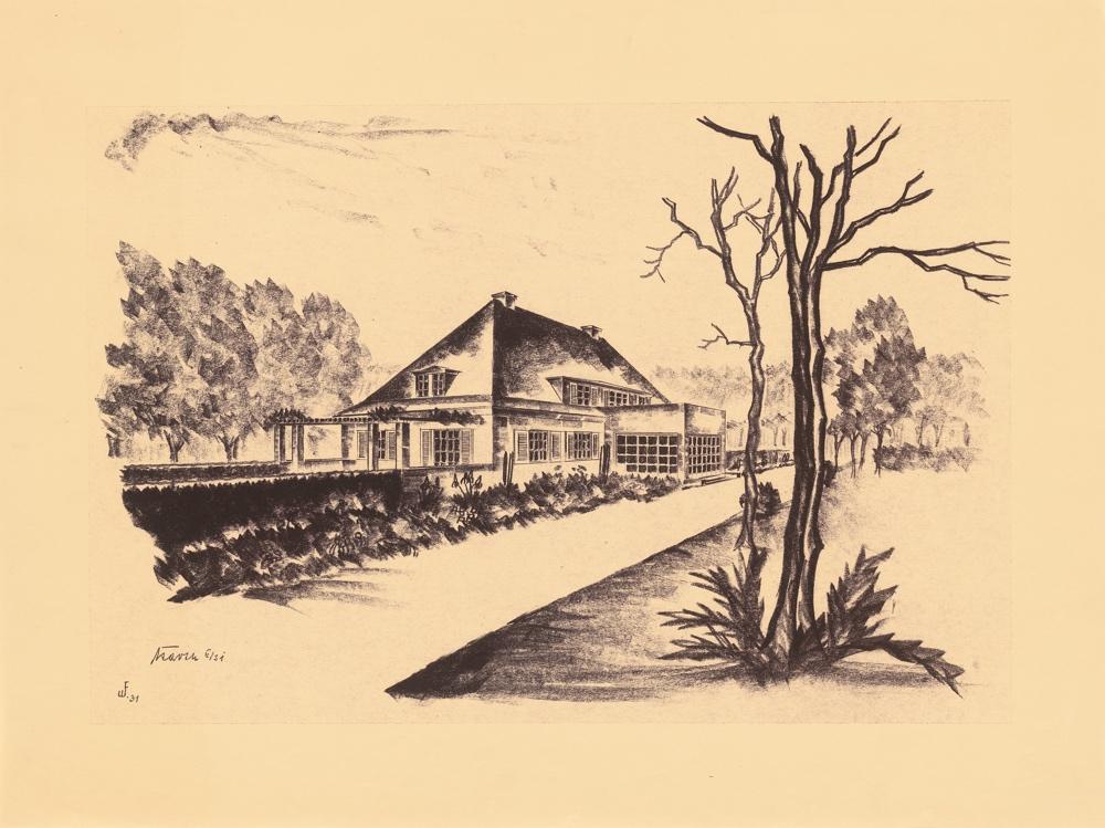Zeichnung Landhaus Massolle (Erwin Barth)